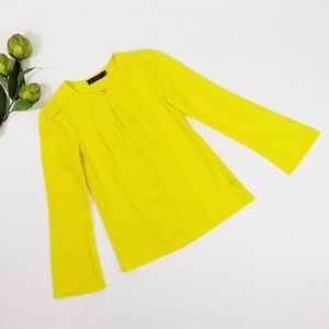 The Limited Yellow Long Sleeve Blouse Size XS